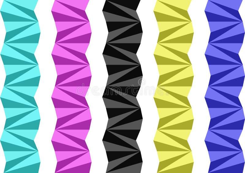 Separatori geometrici fotografie stock libere da diritti