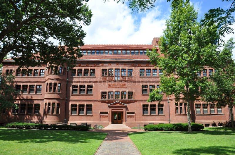 Separe Pasillo en la yarda de Harvard, Universidad de Harvard imagen de archivo