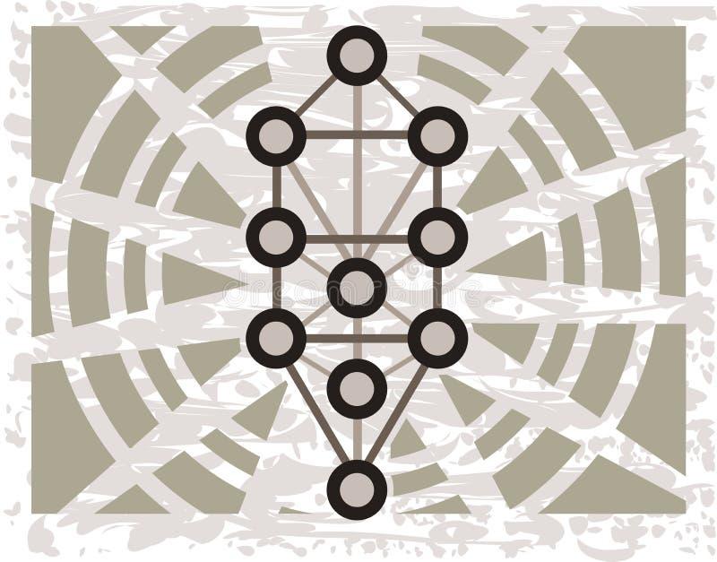 Sephiroth-Baum auf abstraktem Hintergrund lizenzfreie abbildung