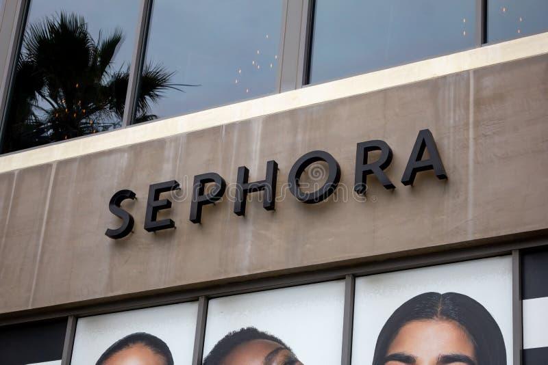 Sephora商店标志 库存照片