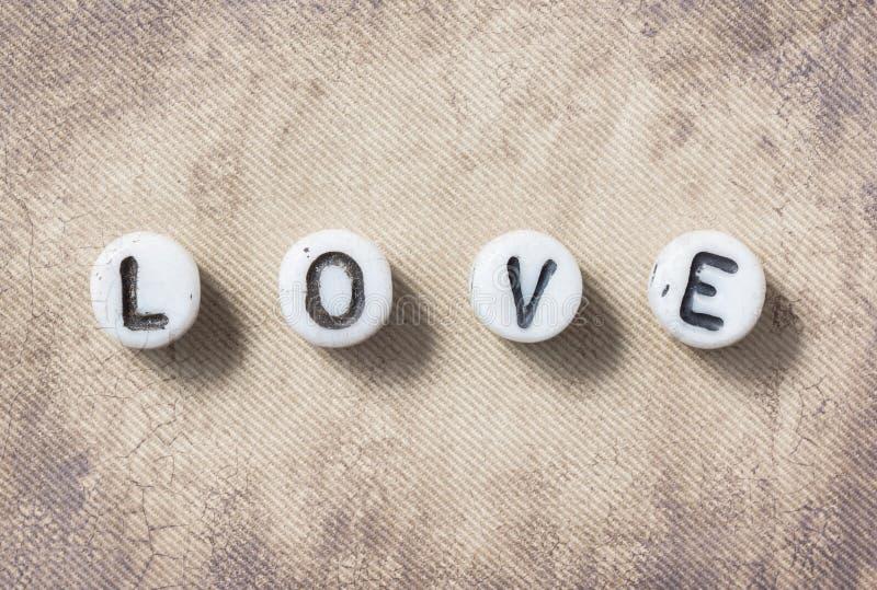 Sepia влюбленности слова стоковое фото rf