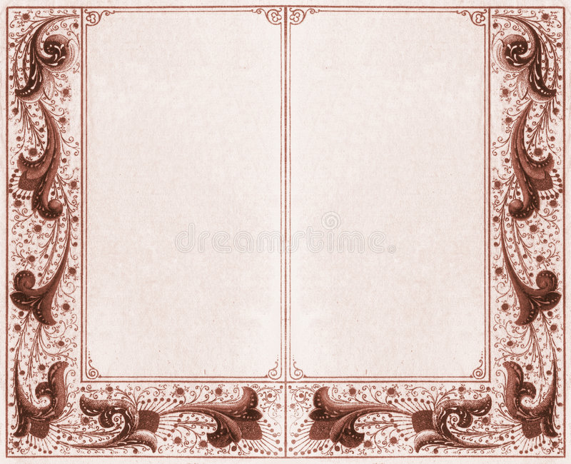 Sepia двойной рамки Стоковое фото RF