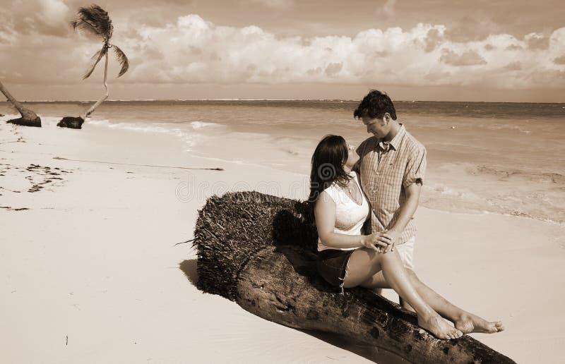 sepia любовников тропический стоковое фото rf
