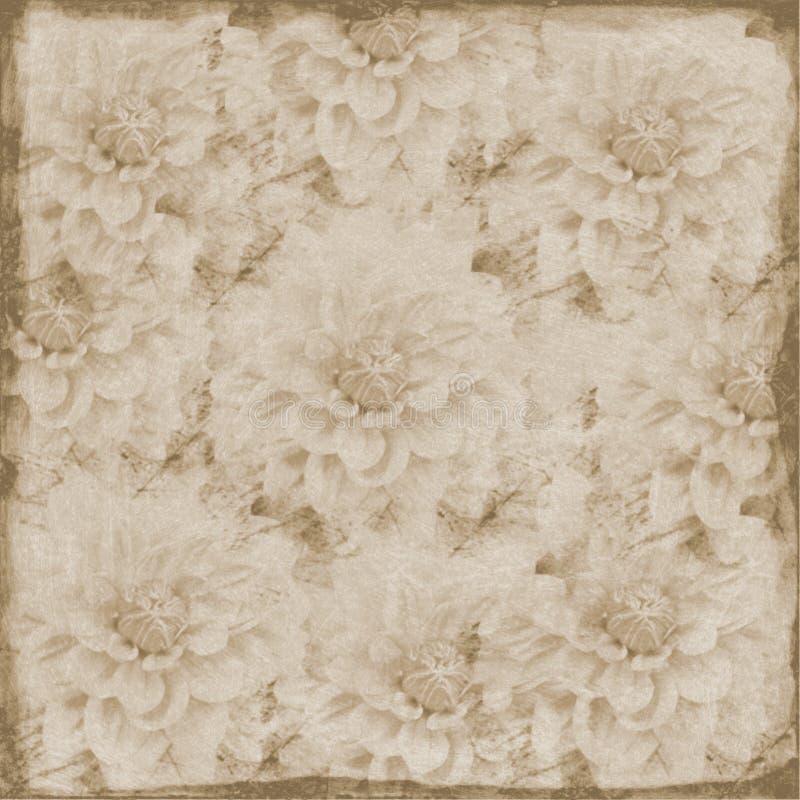sepia предпосылки флористический grungy большой стоковое изображение