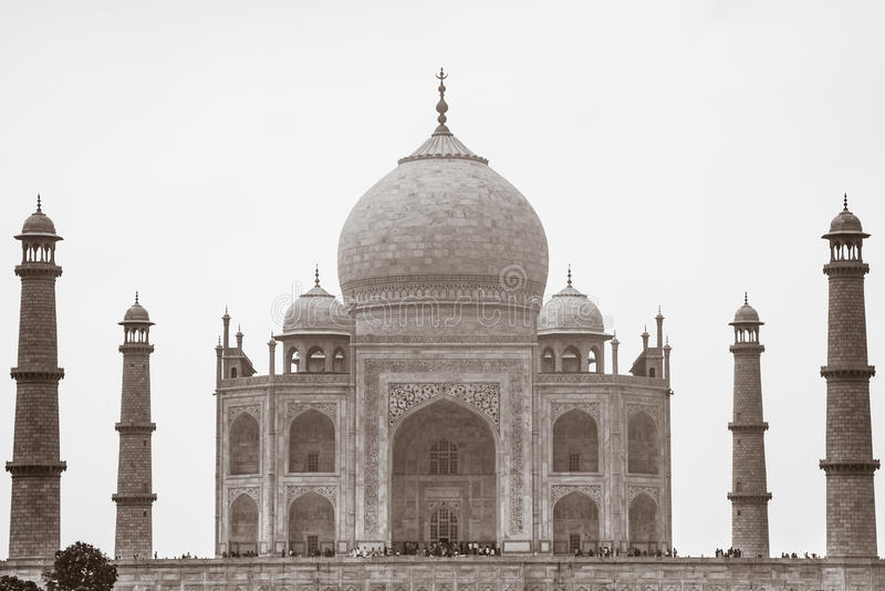 Sepia Тадж-Махал, Агра, Уттар-Прадеш, Индия стоковые изображения rf