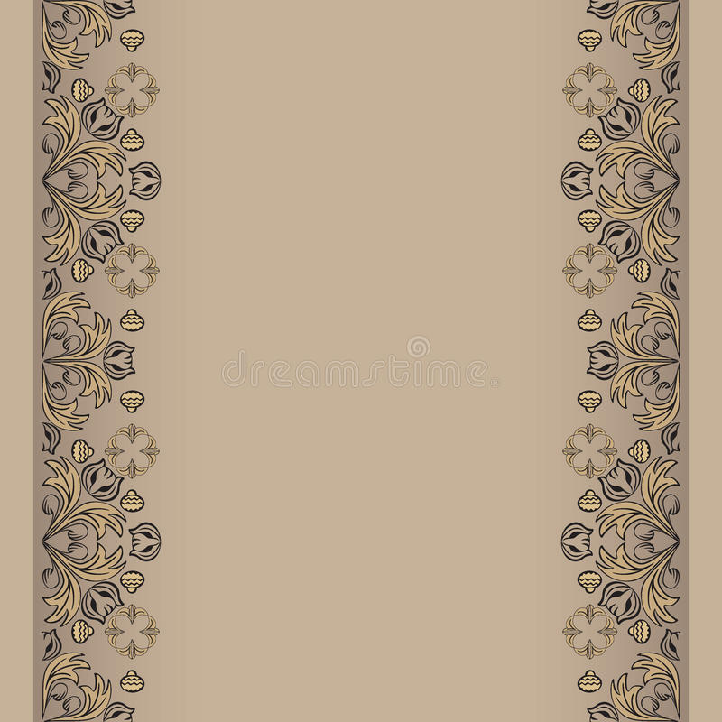 Download Sepia Backdrop With Floral Elements Royalty Free Stock Image - Image: 20788966