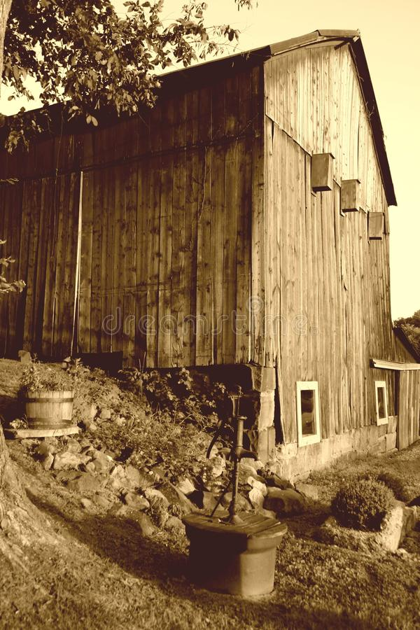 Sepia Barn stock photography