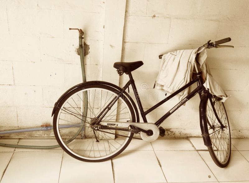 Sepia bicycle royalty free stock photos