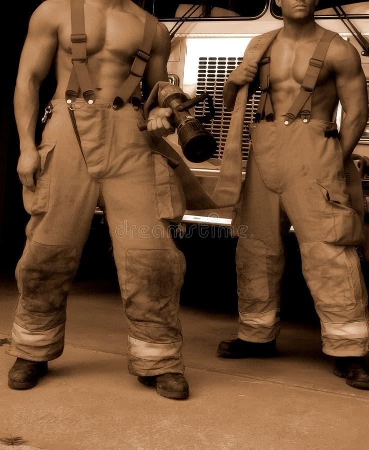 Sepia brandvechters stock afbeeldingen