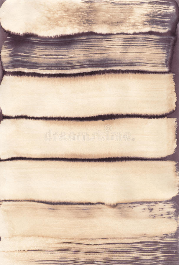 Sepia brown grunge brushstroke stain royalty free stock photo
