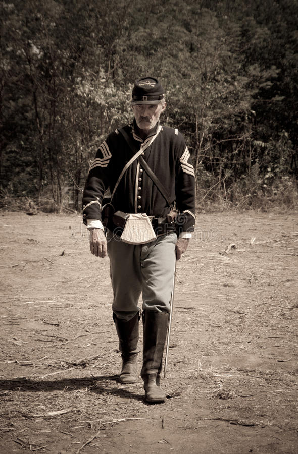 Free Sepia Civil War Union Soldier Stock Photo - 22960700