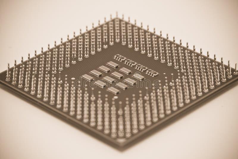 Sepia CPU royalty free stock photo