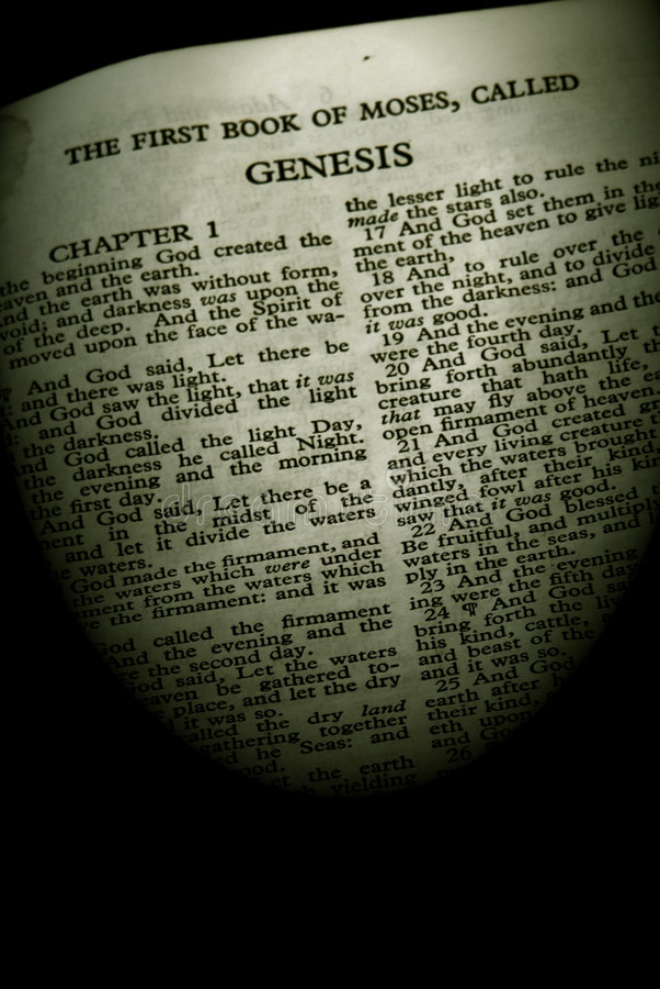 Sepia de la génesis de la serie de la biblia foto de archivo