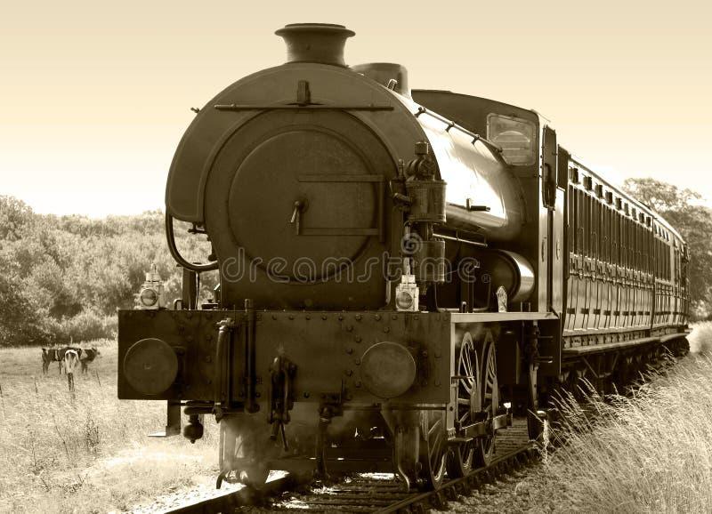Sepia Del Tren Del Vapor Fotos De Archivo Gratis