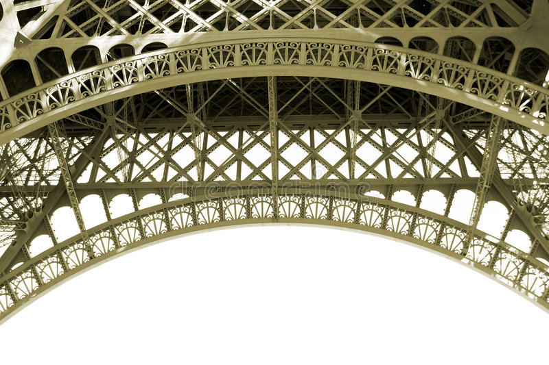 Download Sepia Eiffel Tower Detail In Paris France Stock Image - Image: 2901835