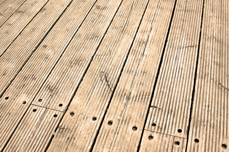 Sepia floor. Old wooden floor diagonal in sepia tone royalty free stock image