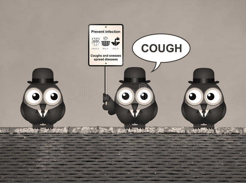 Sepia Flu and cold prevention royalty free illustration