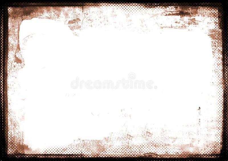 Sepia gebrannter fotographischer Rand des Randes stock abbildung