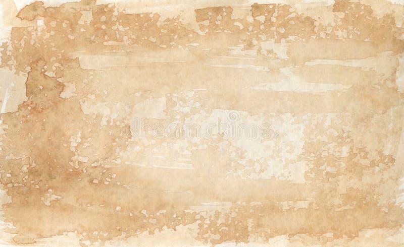 Sepia-gekleurde achtergrond 2 - waterverven stock illustratie
