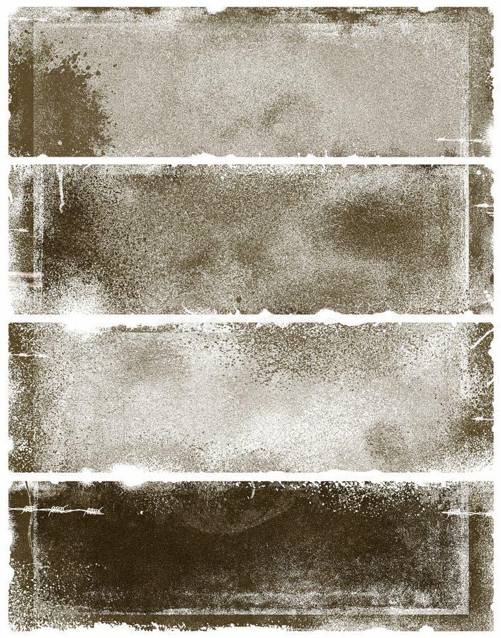 Sepia grunge Fahnen lizenzfreie abbildung