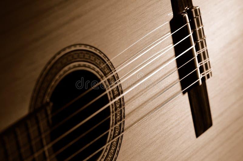 Sepia guitar royalty free stock photo
