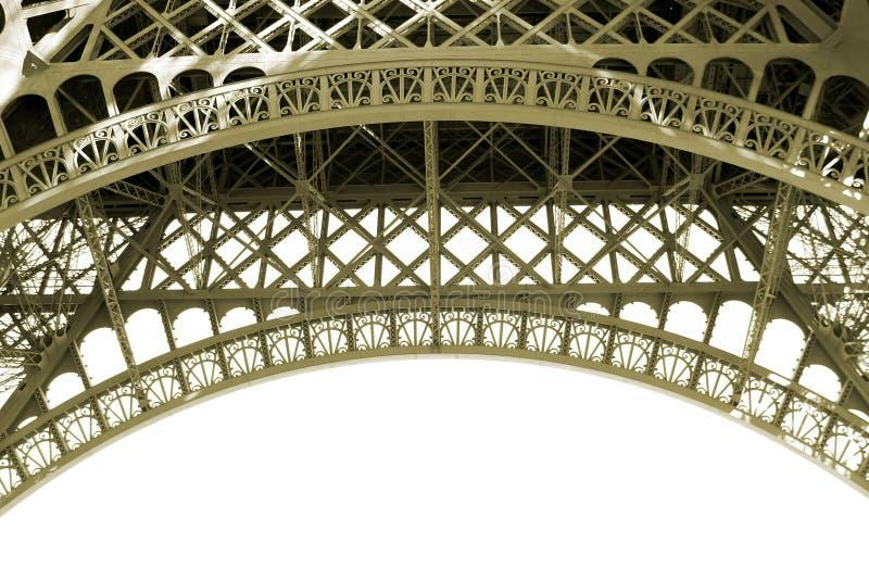 Sepia het Detail van de Toren van Eiffel royalty-vrije stock foto
