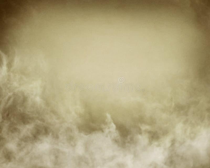 Sepia-Nebel und Wolken lizenzfreie abbildung