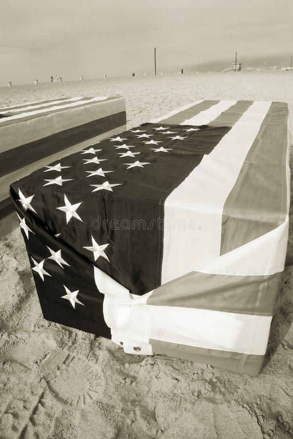 Sepia ocidental do caixão de Arlington fotografia de stock