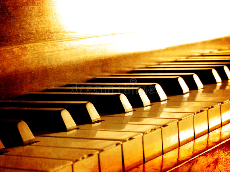 Sepia Piano Keys stock photos