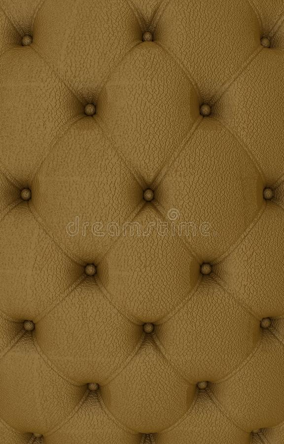 Sepia picture of genuine leather upholstery stock illustration