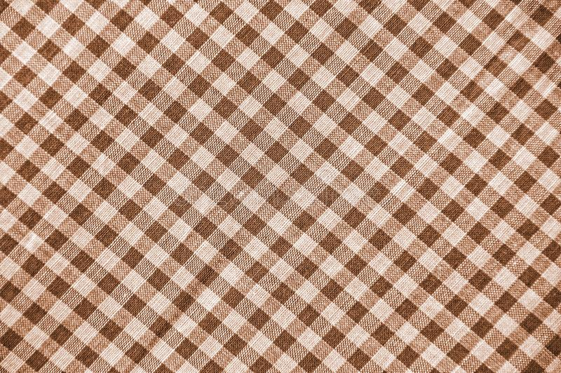 Sepia Plaid Pattern Stock Photography
