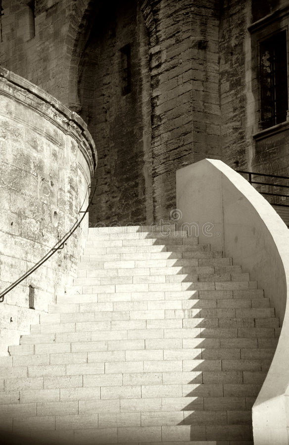 Sepia Stairway stock images