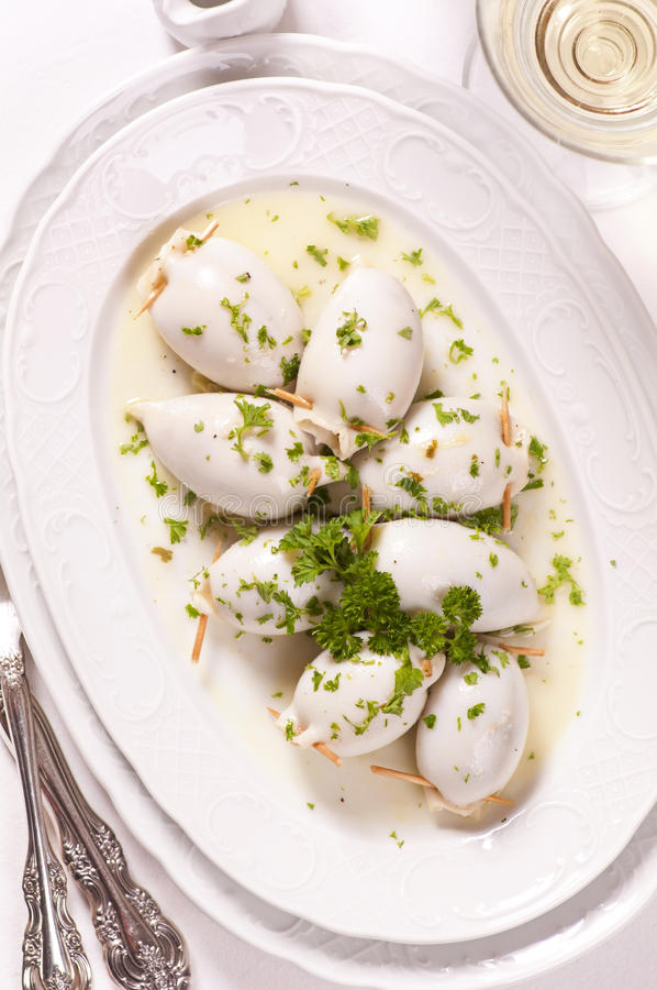 Download Sepia stuffed stock image. Image of cooked, garlic, filling - 24056057