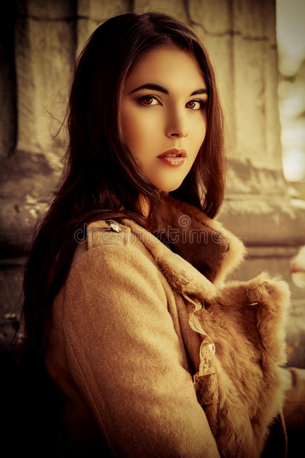 Download Sepia style stock image. Image of beauty, model, girl - 34605811