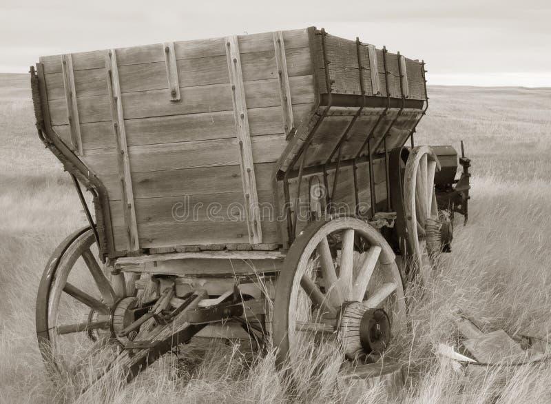 Sepia tone wagon royalty free stock photos