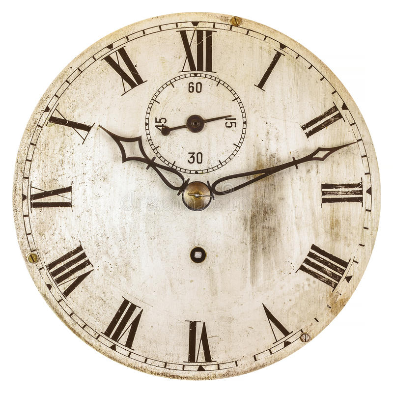 Sepia toned image of an old clock face stock photos