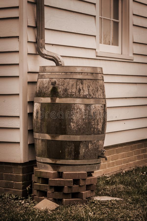 Rain Water Barrel royalty free stock photo