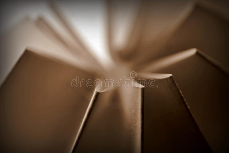 Sepia toned paper folded abstract stock photo