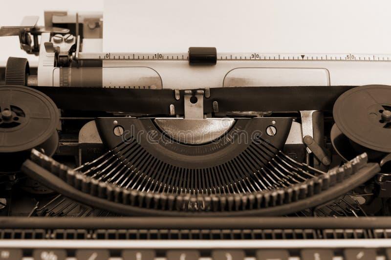 Sepia Typewriter. Old typewriter with sepia color stock photos