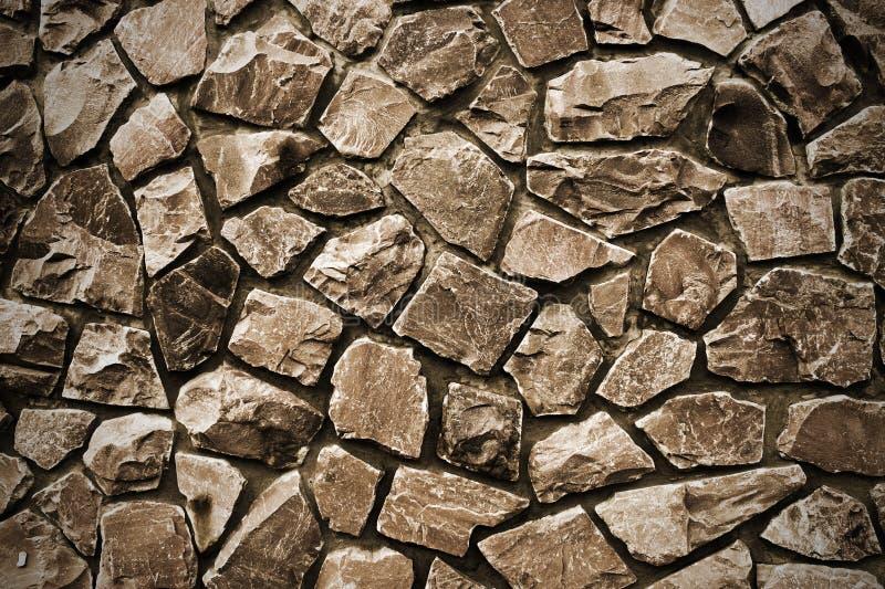 Sepia van de steenmuur royalty-vrije stock afbeelding