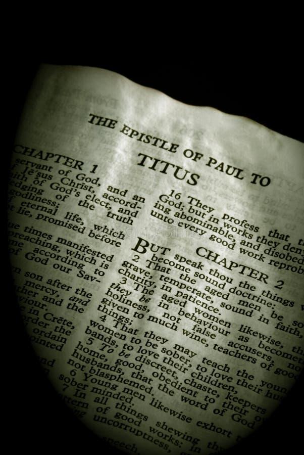 Sepia van Titus van de Reeks van de bijbel stock foto