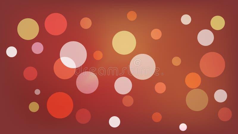 Sepia vectorachtergrond met cirkels Illustratie met reeks van het glanzen kleurrijke gradatie Patroon voor boekjes, pamfletten vector illustratie