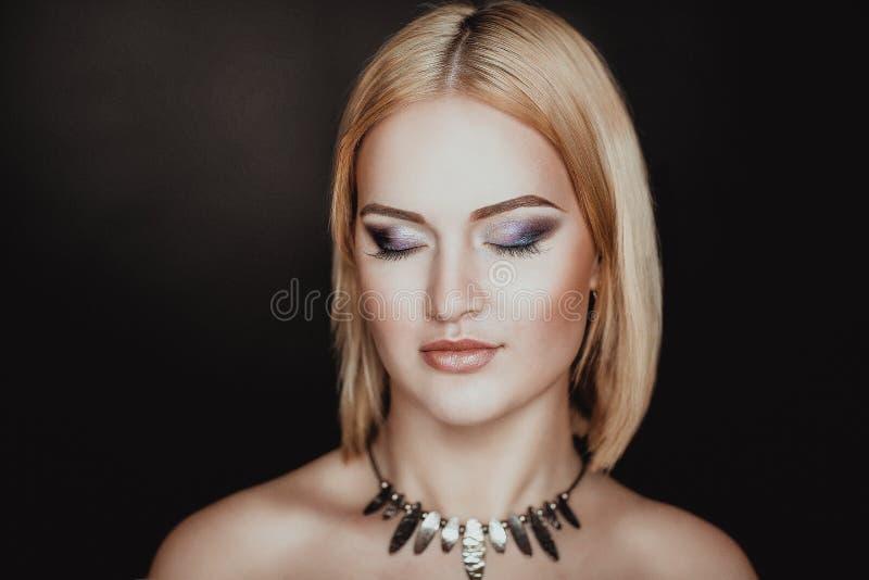 Sepiowa womna twarz fotografia stock