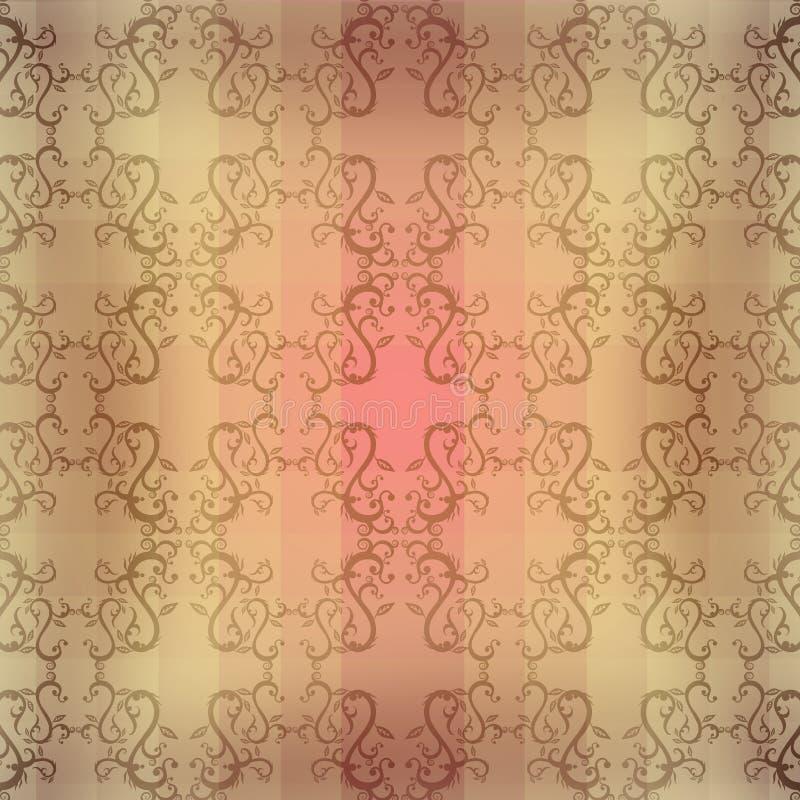 Sepiowy Bezszwowy kwiecisty wzór royalty ilustracja