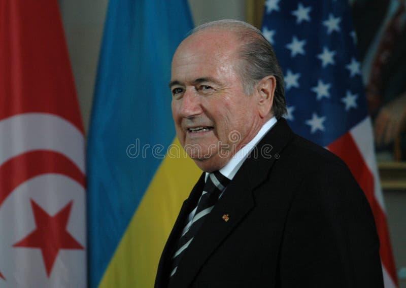 Sepp Blatter fotografia de stock