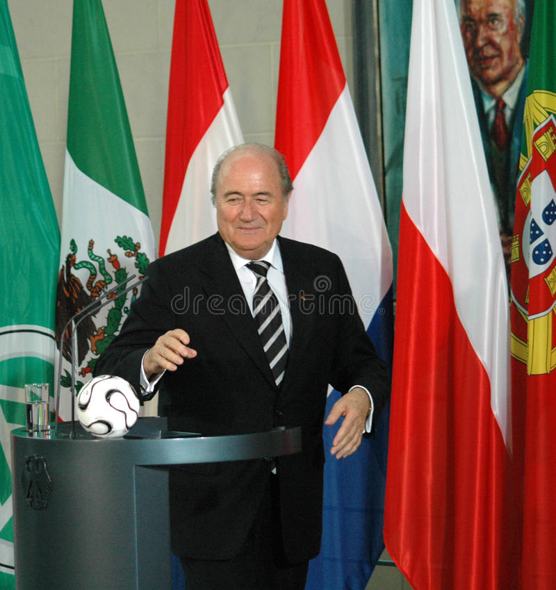 Sepp Blatter royalty-vrije stock foto's