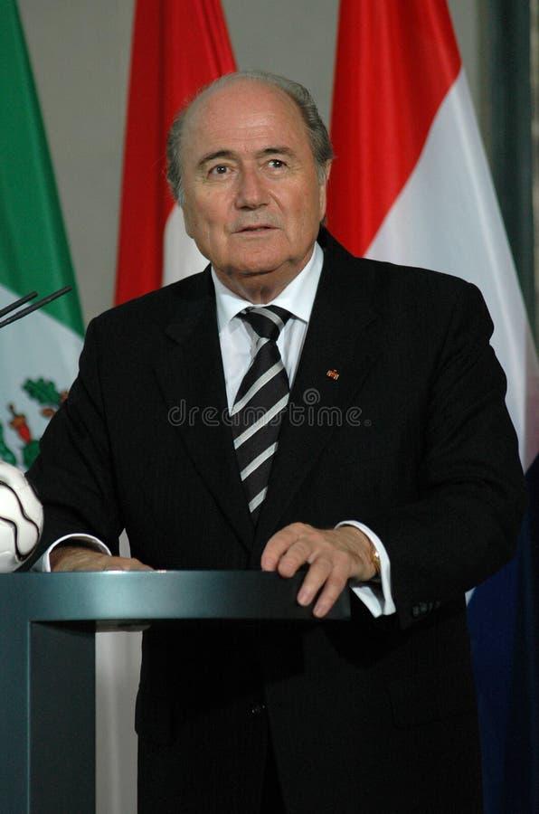 Sepp Blatter image libre de droits