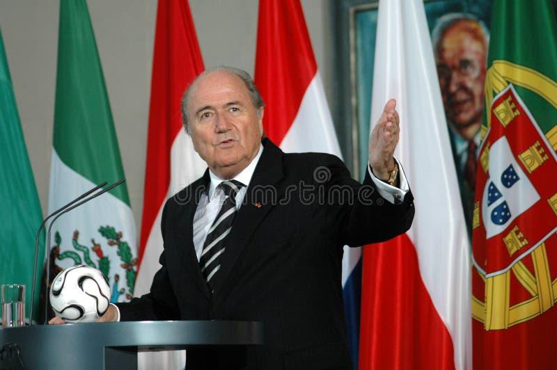 Sepp Blatter fotos de archivo libres de regalías