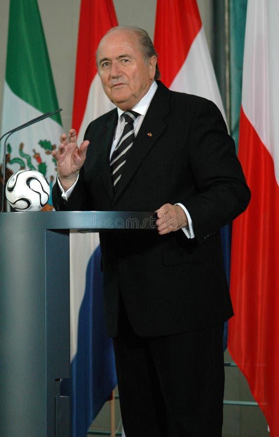 Sepp Blatter stock foto's