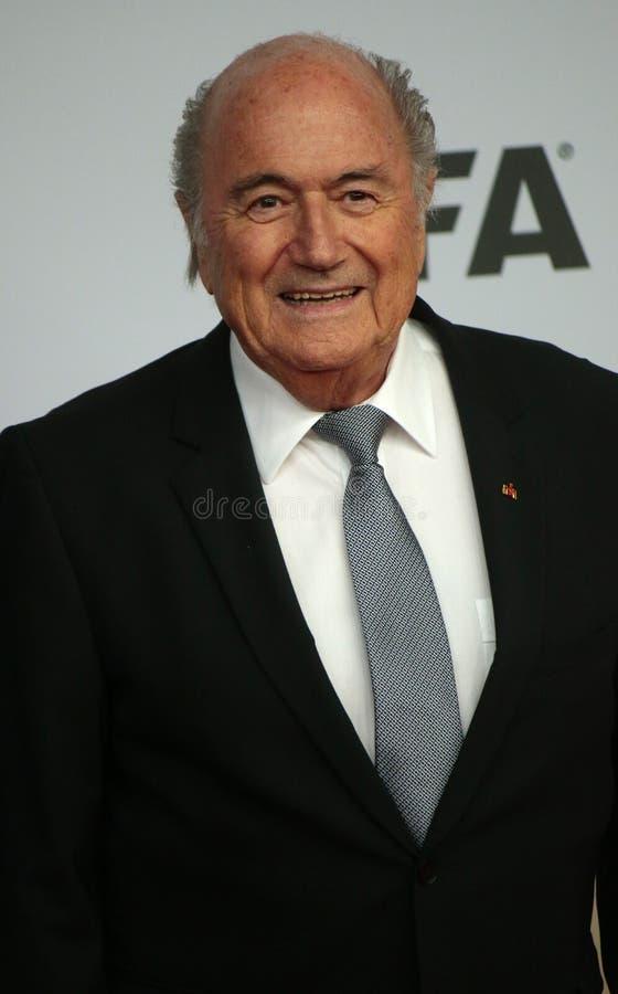 Sepp Blatter imágenes de archivo libres de regalías